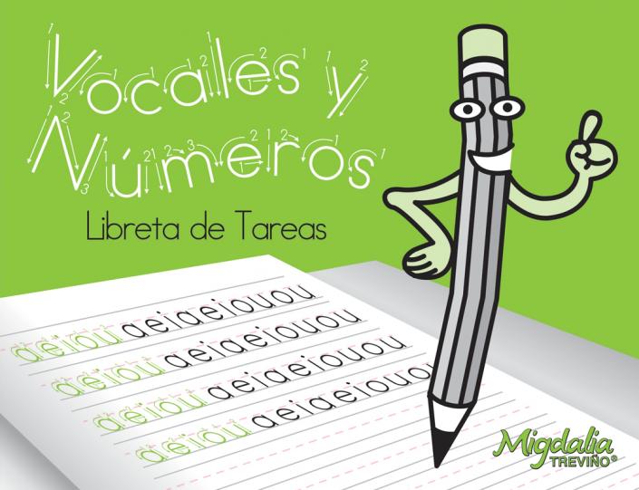 Consonantes, vocales y números.
